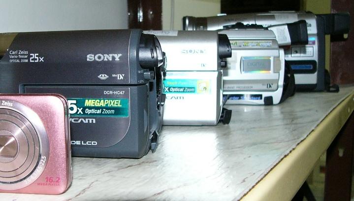 obrázek videokamer Sony