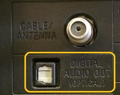 Optický digitální výstup zvuku
